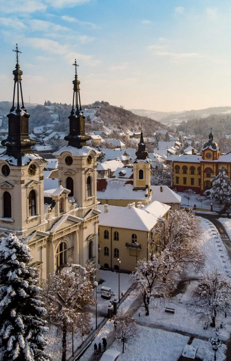 Sremski Karlovci under the snow
